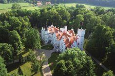 Pałac Sulisław -z lotu ptaka