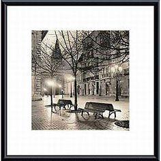Alan Blaustein 'Plaza de Porlier, Oviedo' Metal Framed Art   Overstock.com Shopping - The Best Deals on Prints