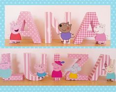 Letras decorativas Peppa Pig