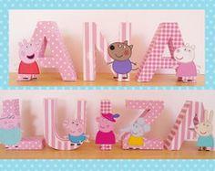 Letras decorativas Peppa Pig