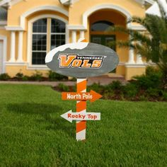 Tennessee Volunteers Wooden North Pole Sign - Tennessee Orange/White