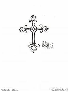 Feminine Cross Tattoos