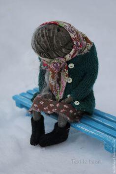 Купить Баба Нюра - комбинированный, бабушка, кукла бабушка, старушка, старина, кукла старушка, старуха