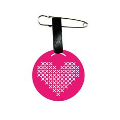 Heart Pin Charm FREE SHIPPING Friendship gift - a perfect way to say I love you with a postcard for personal greeting