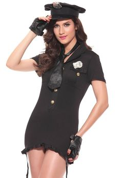 2cb4dfcf87f Amazon.com  Dream Darling Women s Sexy Police Style Cosplay Costume   Clothing