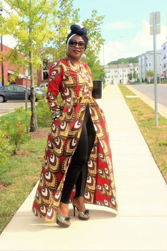 Ankara Print Trench Top by VchicDesigns on Etsy