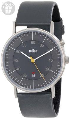 bcc24240b447 Compra Braun - Reloj analógico de caballero de cuarzo con correa de piel  gris ✓ Envío gratuito ✓ Devoluciones gratuitas en productos seleccionados.