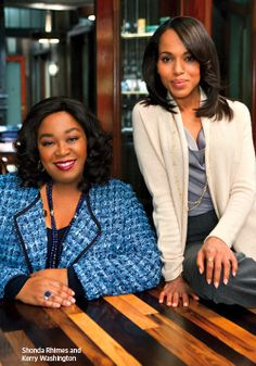 Kerry Washington (actress) & Shonda Rhimes (creator) - Kerry is first black woman to head a prime time TV show in over 25 years - Scandal Scandal, Beautiful Black Women, Beautiful People, Lab, Olivia Pope, Black Girls Rock, Before Us, Celebs, Celebrities