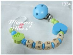 binky clip  pacifier / dummy clip  personalized by MommyandMini, €9.80