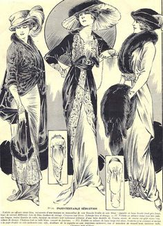 Edwardian fashion by: Dollface and Dapper vintage clothes, see eBay.