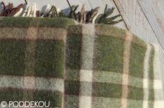Deka z alpaky hnedo-zelená károvaná | PODDEKOU