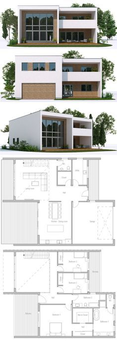 Architecture House Plan, Home Plans, Casa Moderna Modern House Plans, Small House Plans, Modern House Design, Villa Design, Building A Container Home, Container House Plans, Container Homes, Entrance Design, House Entrance