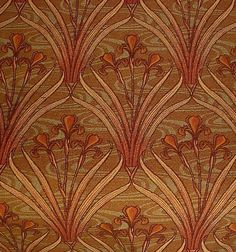 7 yards French Art Nouveau Irises Woven Tapestry Upholstery or Heavy Drapery Fabric - Gorgeous colors