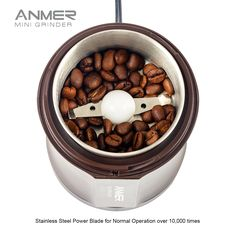 Long Plus CG-8120 Electric Coffee Grinder for Coffee Bean, Seed, Nut,