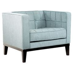 Wesley Arm Chair in Spa Blue