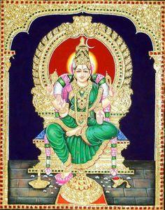 Mysore Painting, Tanjore Painting, Indian Gods, Indian Art, Pooja Rooms, Hare Krishna, Painted Chairs, Hindu Art, Hindus
