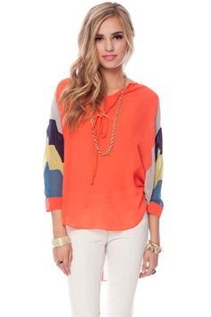 Kelly Blouse in Coral $45 at www.tobi.com
