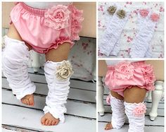 Baby Girl Rose Ruffle Leg Warmers.  Newborn and Birthday Photo Prop, 1st Birthday Outfit, Christmas Holiday Outfit. Back to School Leggings