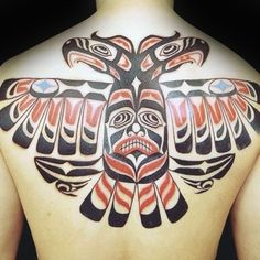Fierce Haida Tattoo Mens Back
