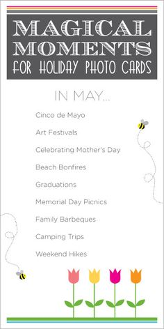 May is full of holidays, graduations and fun in the sun! Make sure you capture this month's photo opps.