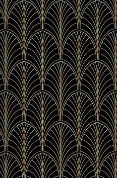 Art the Gatsby,pattern,retro,vintage… Motifs Art Nouveau, Motif Art Deco, Art Deco Design, Art Deco Wallpaper, Pattern Wallpaper, Crazy Wallpaper, Chic Wallpaper, Gold Wallpaper, Invitaciones Art Deco