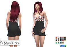 NyGirl Sims 4: Strapless Tribal Mini Dress