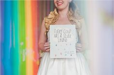 From our Rainbow + Bowtie Wedding Ideas - Blog - RENT MY DUST Vintage Rentals by Nine Photography & Grit + Gold Fort Worth
