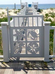Gate for beach house