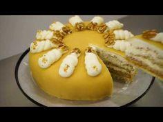 Klassische Marzipantorte - Sahnetorte mit Marzipan, Nüssen & Rum - Kuchenfee - YouTube