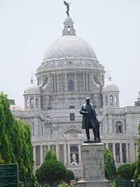 Victoria Memorial in Kolkata, India. A great place to visit for people interested in colonial history.