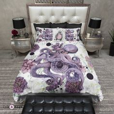 Succulent Octopus Ink Bedding