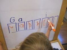 Excellent idea for learning to write your name:)