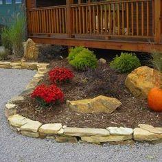 Stacked Stone Garden Edge. |On the Edge: 16 Garden Borders You Can Make