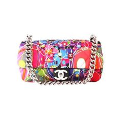 CHANEL MULTI-COLOR QUILTED SATIN KALIDESCOPE FLAP BAG