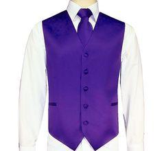 Dark Purple Vest/Tie/Hankie Set