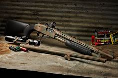Customize Shotgun: Tricking Out Your Mossberg 500 - Shooting Times Mossberg Shotgun, Tactical Shotgun, Tactical Gear, Mossberg 500 Tactical, Tactical Equipment, Weapons Guns, Guns And Ammo, Home Defense, Self Defense