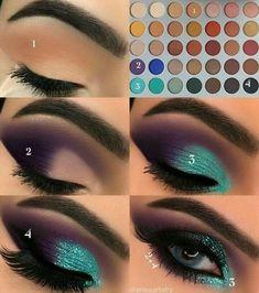 Gorgeous Makeup: Tips and Tricks With Eye Makeup and Eyeshadow – Makeup Design Ideas Eye Makeup Steps, Makeup Eye Looks, Skin Makeup, Eyeshadow Makeup, Eyeliner, Teal Eyeshadow, Makeup Brushes, Makeup Remover, Easy Eye Makeup