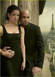 "Gugu Mbatha-Raw and Boris Kodjoe, ""Undercovers"" Celebrity Couples, Celebrity Style, Black Is Beautiful, Beautiful People, Boris Kodjoe, Mbatha Raw, Black Actresses, Hollywood Stars, Hollywood Life"