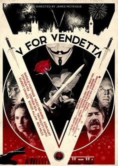 My film poster homage to 'V for Vendetta' by butwin