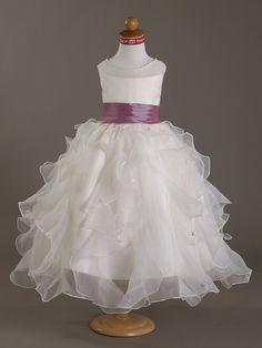 CAMERON - Vestido de Florista de Organza y Satén - USD $99.99