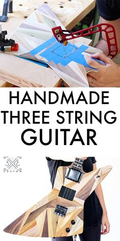 Wood Scraps, Guitar Neck, Cigar Box Guitar, A Perfect Circle, More Fun, Guitars, Two By Two, Projects, Handmade