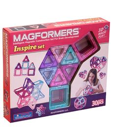 The powerful strength of magnets, builders of all ages can explore and experiment with shapes, structures and geometric creations. These bright, bold super-triangles and super-squares magnetically connect for a fun and educational set that entertains for hours. Includes 12 super-triangles, 18 super-squares and idea bookletPlastic / magnet