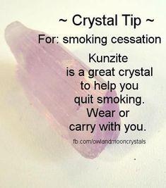 To quit smoking use Kunzite Healing Crystal                                http://buyjewelrydeals.com