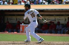CrowdCam Hot Shot: Oakland Athletics right fielder Josh Reddick hits a single against the Los Angeles Angels during the third inning at O.co Coliseum. Photo by Kyle Terada