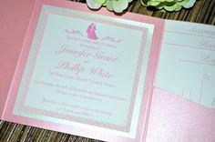 Fairy Tale Wedding Invitations - Sleeping Beauty, Pocket Fold by klmCreative