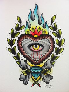 Heart Eye PRINT by AlexStrangler on Etsy, $25.00