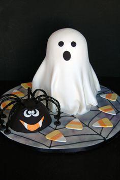 Spider & Ghost Cake
