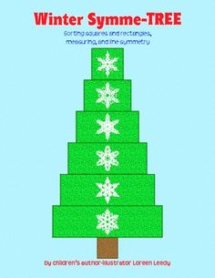 Free printable to make a Christmas holiday or winter tree out of squares and rectangles. Great for math centers!