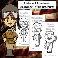 This set of trifold brochures features 27 diverse historical figures that have contributed to American history in various ways. These brochures are a perfect way to ensure your students are keeping their information organized and focusing on the most important aspects of the person they're studying. Education Middle School, Middle School Grades, High School Classroom, School Levels, Social Studies Lesson Plans, Social Studies Activities, Teaching Social Studies, Classroom Activities, Project Based Learning