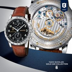 Tazio Nuvolari Gold Car Collection by Eberhard & Co. #eberhardwatches #tazionuvolari #eberhard #chronograph #vintagecars